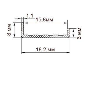 Торцовочный профиль С16 | П профиль для ДСП 16мм