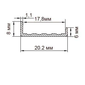 Торцовочный профиль С18 | П профиль для ДСП 18мм