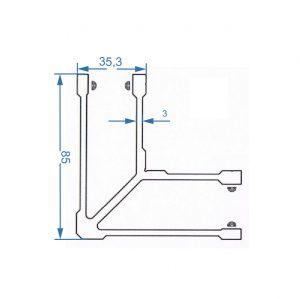 соединитель угловой для трубы 40мм