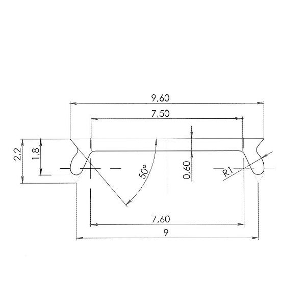 чертеж рассеивателя для порожка с подсветкой