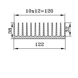 радиаторный профиль 122х38