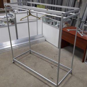 Стенд — вешалка под плечики / тремпель | Стойка передвижная для магазина или салона