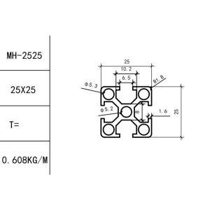 КОНСТРУКЦИОННЫЙ ПРОФИЛЬ 25х25 Т-слот М6 для 3D принтеров и ЧПУ станков