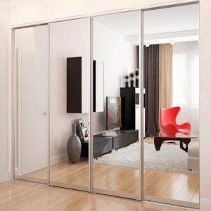 Раздвижная система | Межкомнатные перегородки | Дверь зеркало
