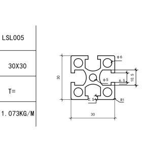 КОНСТРУКЦИОННЫЙ ПРОФИЛЬ 30х30 Т-слот М6 для 3D принтеров и ЧПУ станков