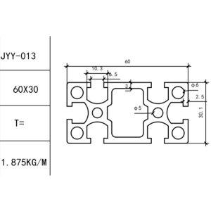 КОНСТРУКЦИОННЫЙ ПРОФИЛЬ 30×60 Т-слот М6 для 3D принтеров и ЧПУ станков