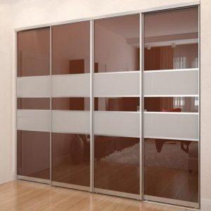 Раздвижная система | Межкомнатные перегородки | Дверь с комбинированным наполнением