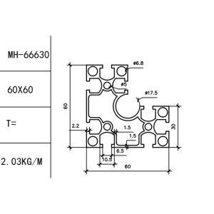 КОНСТРУКЦИОННЫЙ ПРОФИЛЬ 30/60×60 Т-слот М6 для 3D принтеров и ЧПУ станков