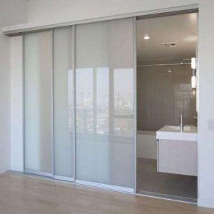 Раздвижная система | Межкомнатные перегородки | Дверь стекло матовое
