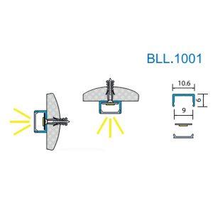 Профиль для светодиодной ленты BLL1001. Длина планки 3мп