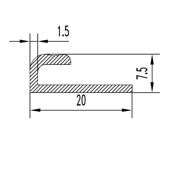 L образный швеллер пас 0887 чертеж