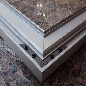алюминиевый профиль дверной короб скрытый монтаж