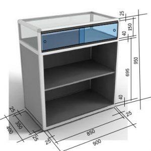 Розсувні дверцята у вітрині або прилавку з торгового профілю. Як розрахувати розмір?