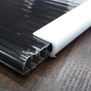 Окантовочный | Торцевой пластиковый профиль 6мм, белый.
