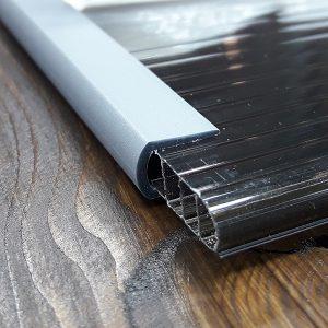 Окантовочный | Торцевой пластиковый профиль 6мм, серый.