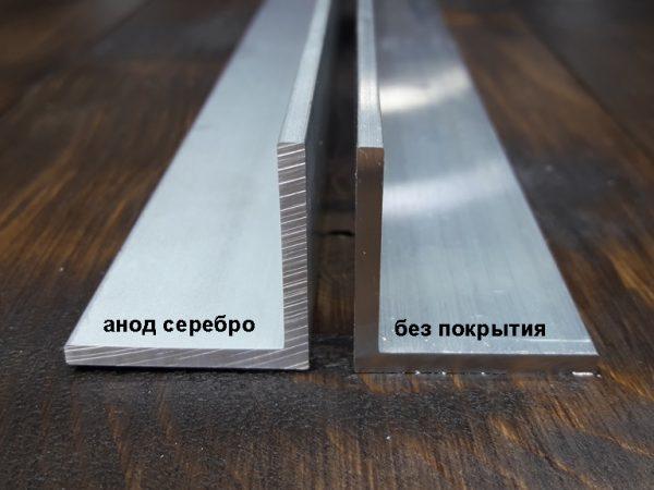Алюминиевый уголок с анодом и без покрытия