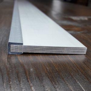 Окантовочный | Торцевой пластиковый профиль 5мм, серый.
