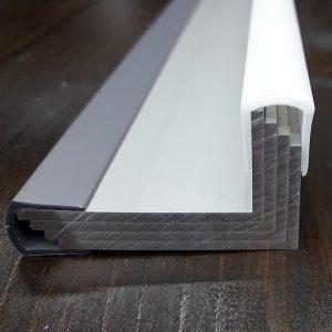 Окантовочный | Торцевой пластиковый профиль 8мм, белый.