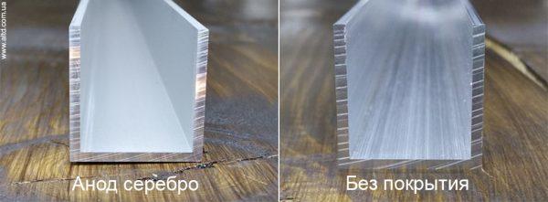 Швеллер алюминиевый покрытие анод и без покрытия
