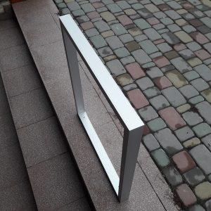 алюминиевая опора из трубы 50х30х2