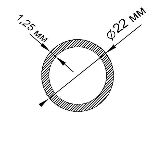 алюминиевая труба круглая 22х1,25