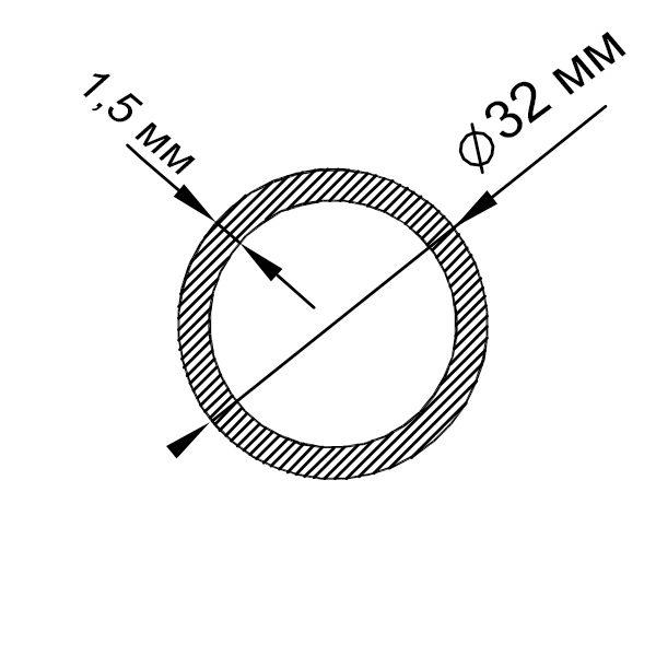 алюминиевая труба круглая 32х1,5