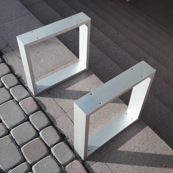алюминиевые опоры для столешницы из трубы 80х20х2