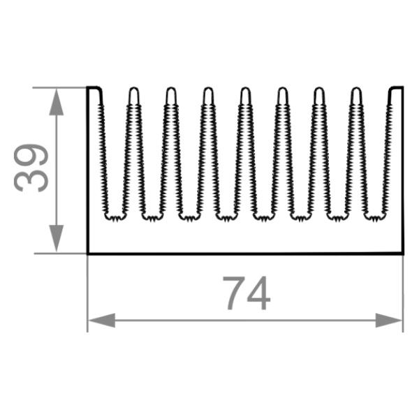 радиаторный профиль 74x39