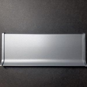 Заглушка торця алюмінієва для плінтуса 40-60-70-80-100мм. Заглушка закінчення профілю ліва і права. Анод срібло і під фарбування.