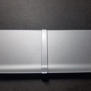 Заглушка сполучна для алюмінієвого плінтуса 40-60-70-80-100мм. Анод срібло і під фарбування.