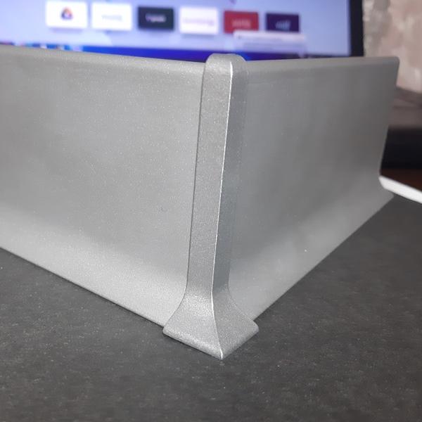 угол внешний алюминиевый для плинтуса 40-60-80мм