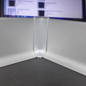 Заглушка алюминиевая для плинтуса 40-60-70-80-100мм. Угол внутренний. Анод серебро и под покраску.