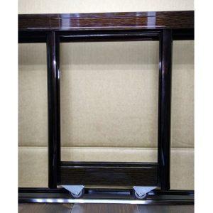 Комплект профилей для сборки дверей шкафа купе | Цвет венге глянец