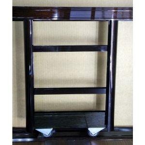 Комплект профилей для сборки комбинированных дверей шкафа купе | Цвет венге глянец