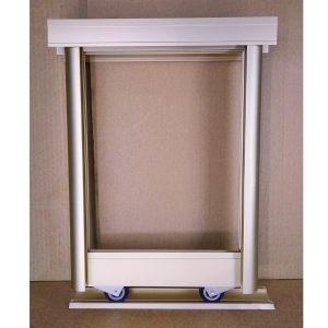 Фасад шкафа купе — конструктор раздвижной системы | Цвет розовое золото.