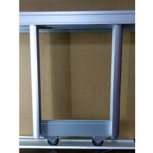 Раздвижная система дверей купе | Цвет серебро.