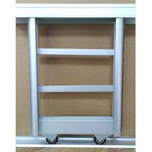 Раздвижная система шкафа купе комбинированная | Цвет серебро.