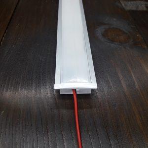Светодиодный профиль врезной под две ленты ПФ-26