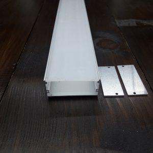 Светодиодный профиль широкий ПФ-27. Комплект, длина 2м.