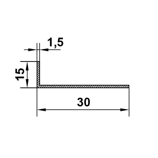 алюминиевый уголок 30х15х1,5