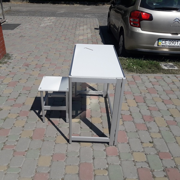 комплект алюминиевый стол и табуретка