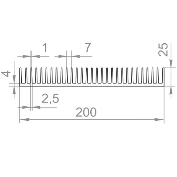 радиаторный профиль 200x25