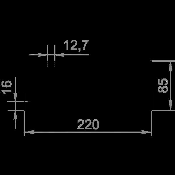 радиаторный профиль 220x85