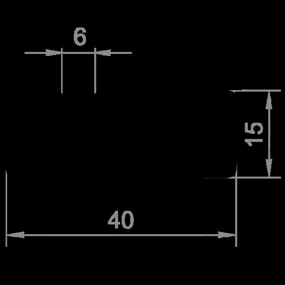 станочный Т-паз профиль 40х15