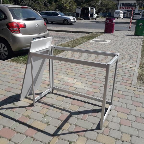 стол алюминиевый разборной 900х450х700