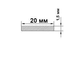 Алюминиевая шина 20х1,5 мм, анод серебро