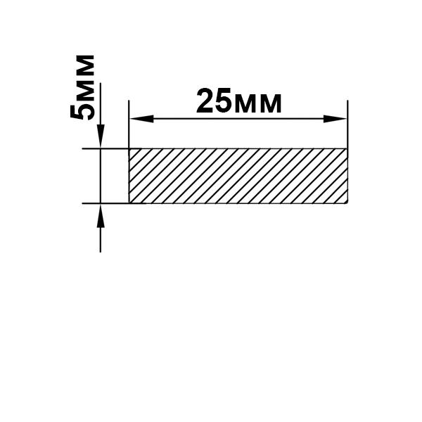 полоса алюминиевая 25х5