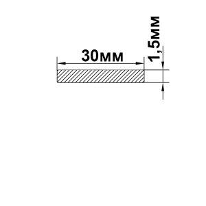Алюминиевая полоса 30х1,5 мм, анод серебро