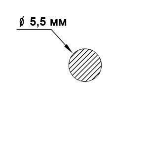 пруток алюминиевый 5,5мм