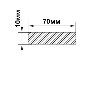 Алюминиевая пластина 70х10 мм, анод серебро